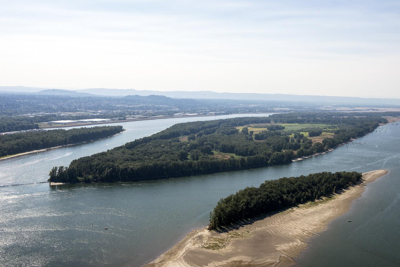 Government Island (center)