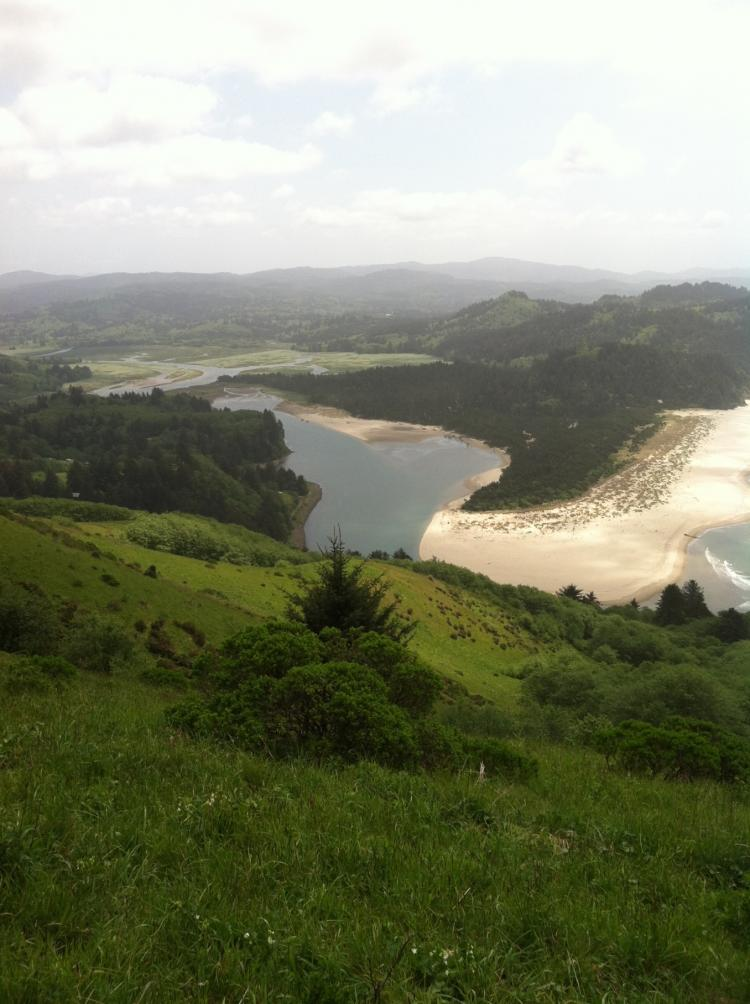 Salmon River Estuary from Cascade Head, May 17, 2012