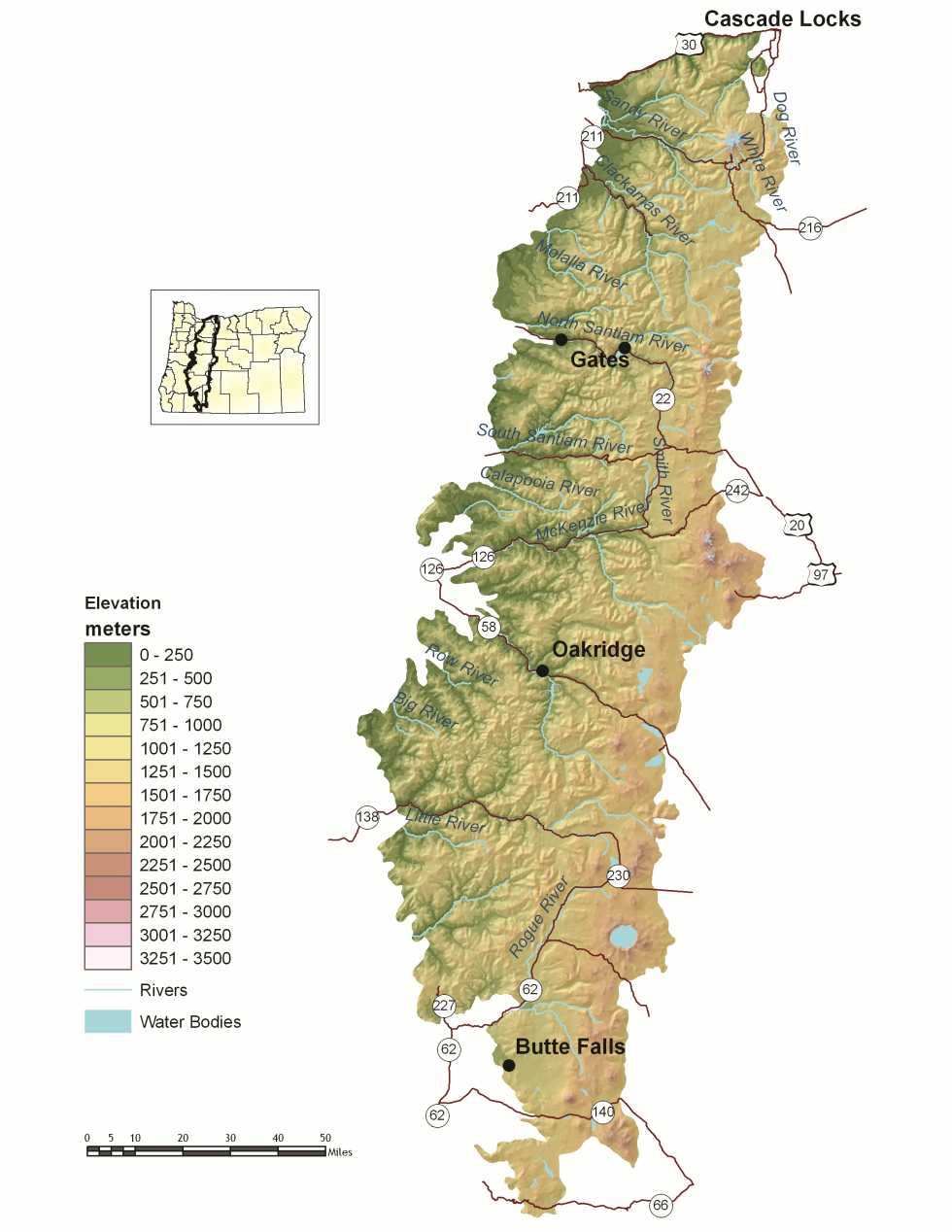 Cascade Locks Fire Map.West Cascades Oregon Conservation Strategy